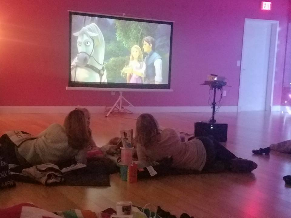 movie night with rapunzel