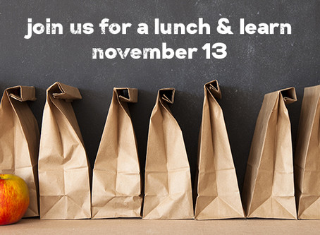 Join us for a Lunch & Learn