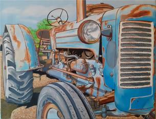 74 - Tracteur bleu