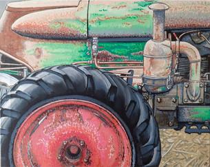 75 - tracteur vert
