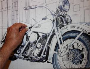 33 - Moto n°2 - Esquisse