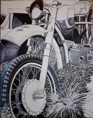 30 - Moto n°1 - Esquisse
