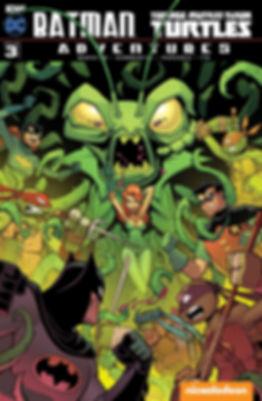 Batman Teenage Muant Ninja Turtles Adventures #3 Cover