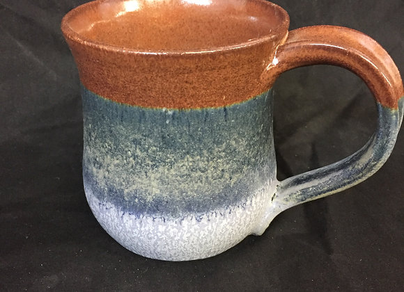 "Brown & Blue Mug - 3""H, 3.5"" W"
