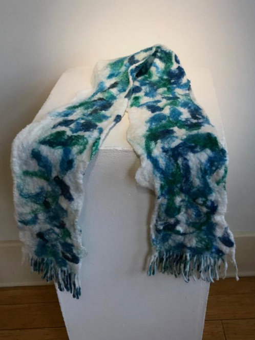 Hand made felted scarf