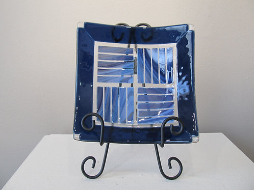 Blue Glass Plate by Connie Matusoff