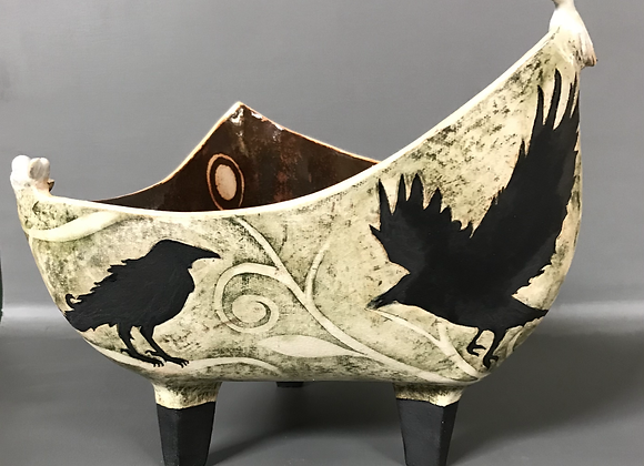 Crows on A  Bowl ( #2)