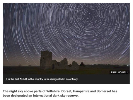 """Cranborne Chase first entire """"Area of Natural Beauty""""  to be dark sky reserve"""