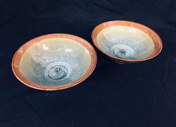 """Two Bowls  7""""W 2.75""""H"""