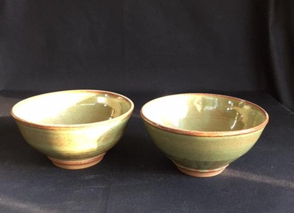 "Set of 2 Bowls, 6""w x 3""ht"