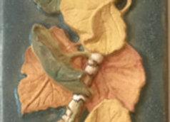"""2""""x6"""" Autumn Leaves Glazed Tile #1"""