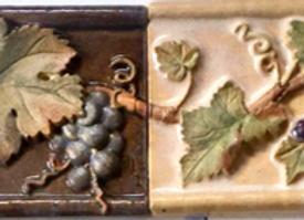 "2""x6"" Grapes & Leaves Border tiles"