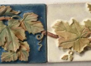 """2""""x6"""" Grapes & Leaves Border #2  glazed tiles"""