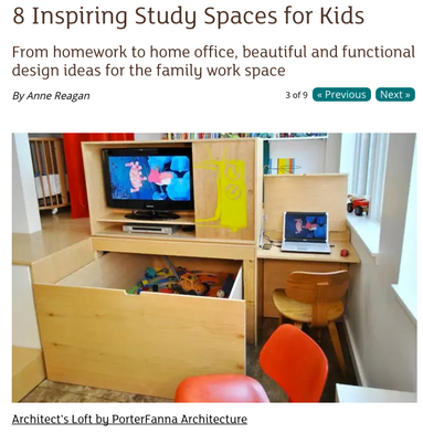 """""""8 Inspiring Study Spaces for Kids"""""""