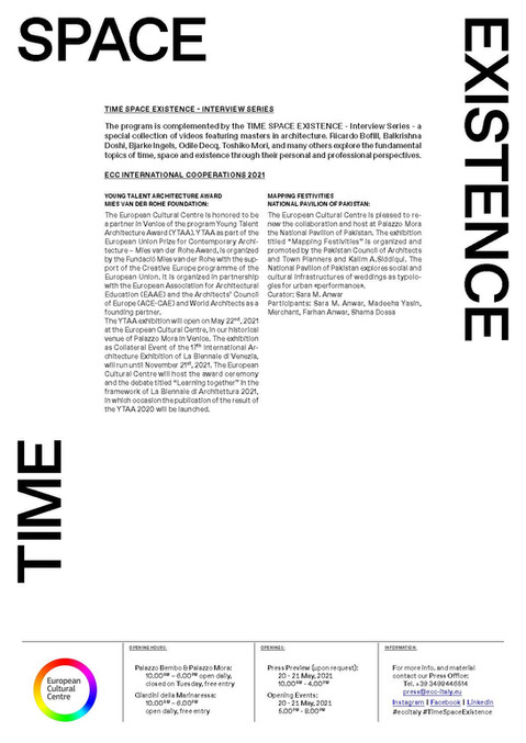 Timestills at the 2021 ECC Venice Biennale