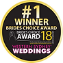 WINNER Brides Choice Awards Western Sydney 2018