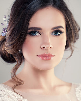 Closeup Portrait of Beautiful Bride Wear