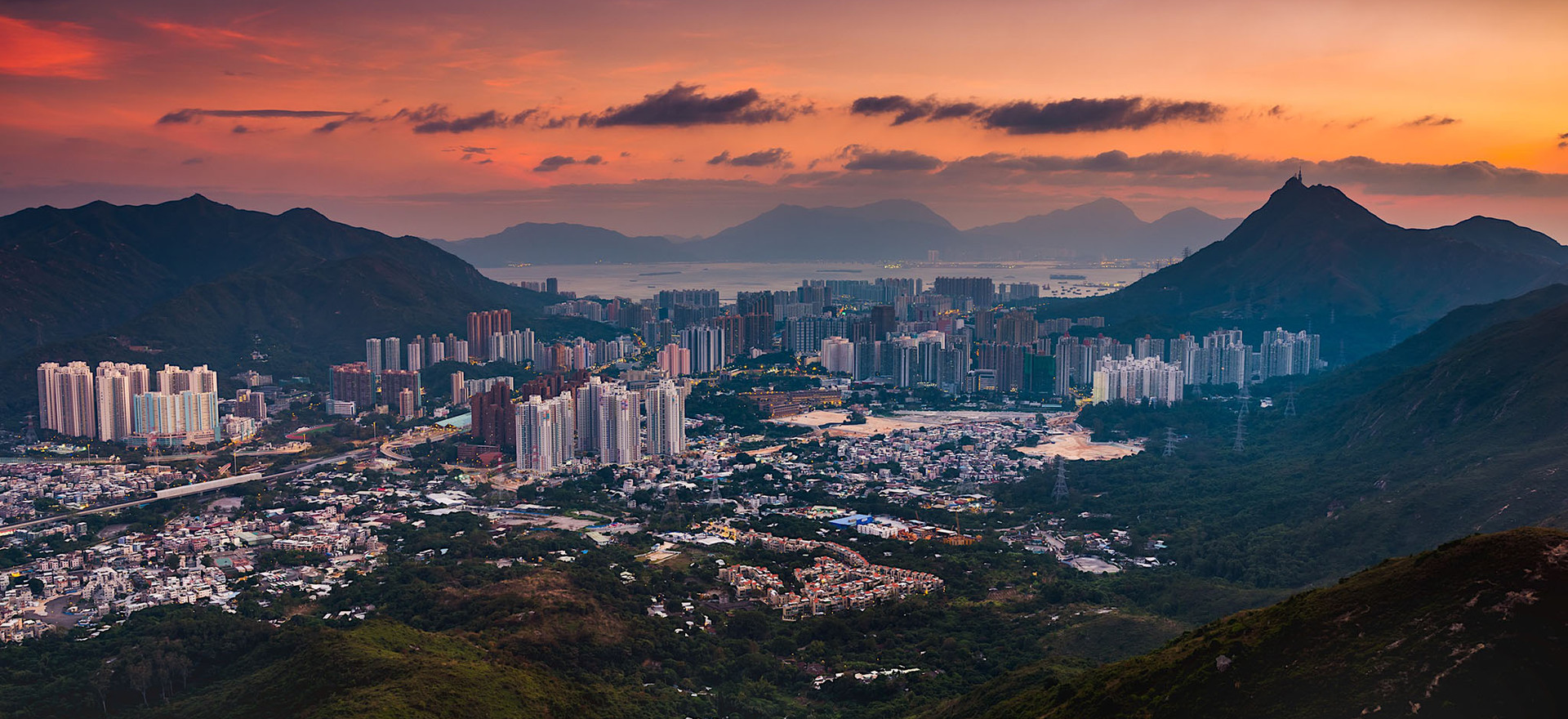 Sunset View of Tuen Mun (Mount Regency)