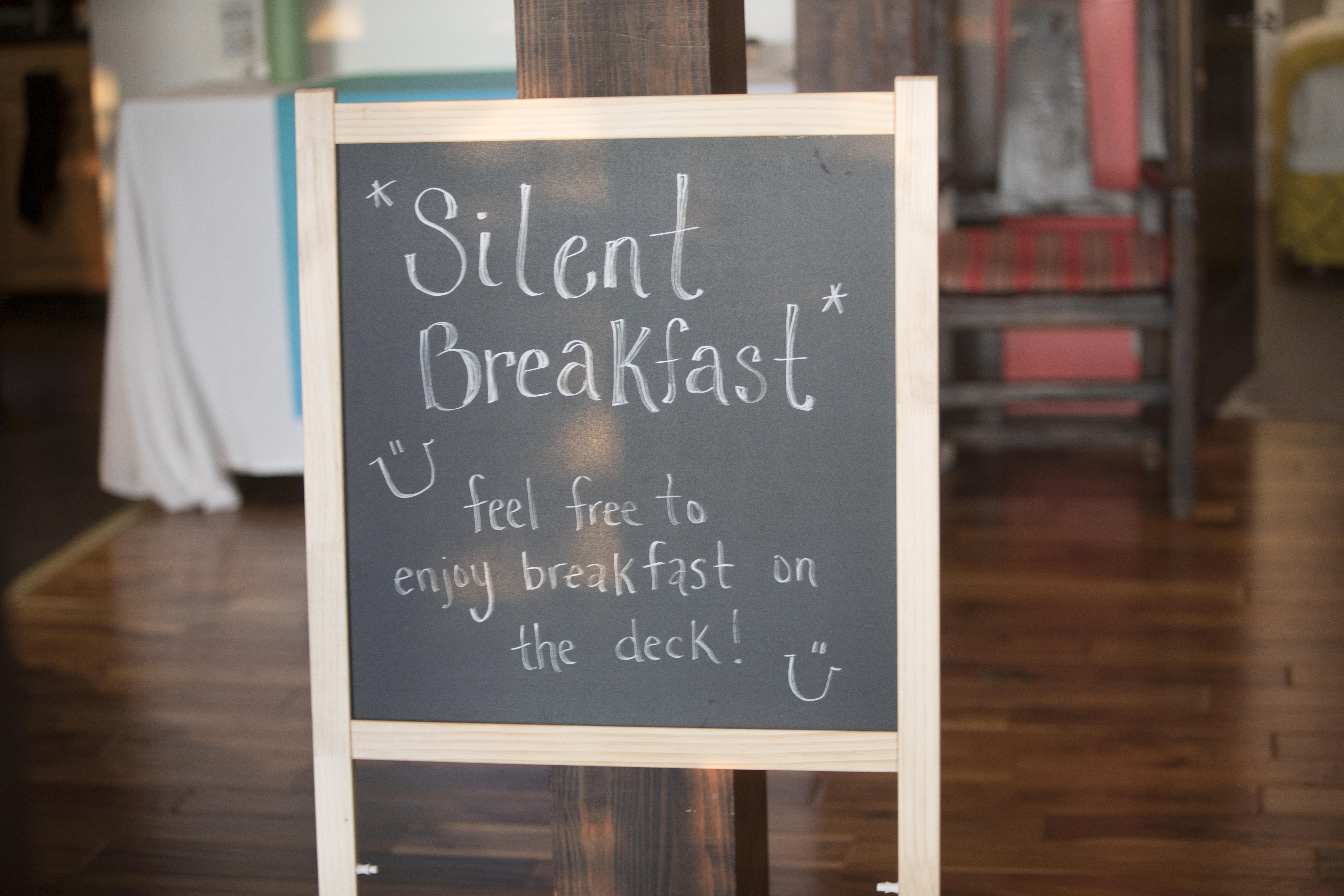 Silent Breakfast Practice