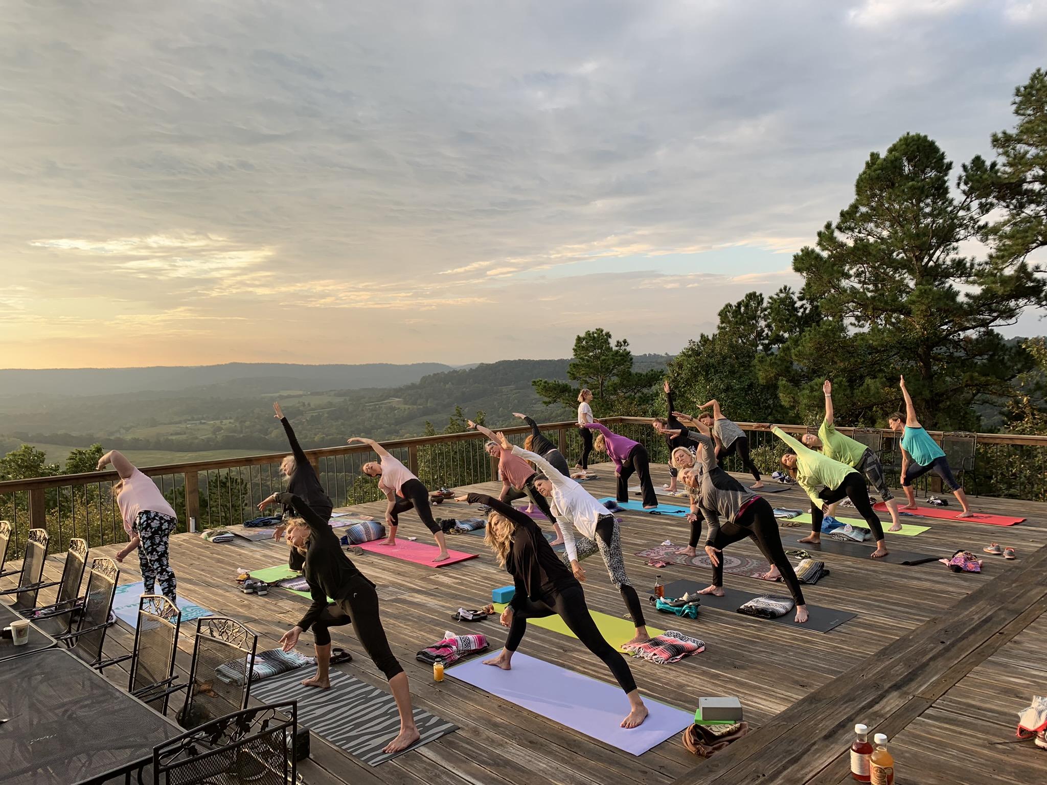 Sunrise yoga with Angela Braun