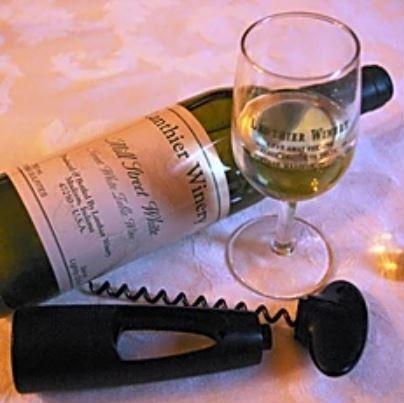 Lanthier Winery's Mill Street White, corkscrew, wine, wine glass