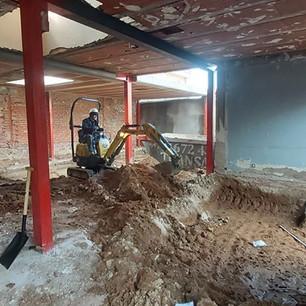 Excavación losa de cimentación