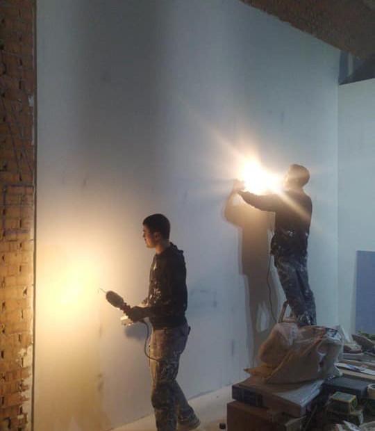 Alisando paredes
