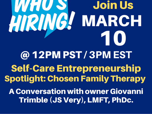 """Tune in for our CEO Giovanni Trimble to be featured on the web series """"Who's Hiring""""."""
