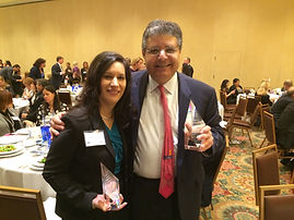 Cristina Alonso receiving Daily Business Review Most Effective Appellate Lawyer Award