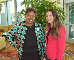Cristina Alonso and Theresa Coy, Chairs of FL Bar Solo Small Firm Section Annual Conference