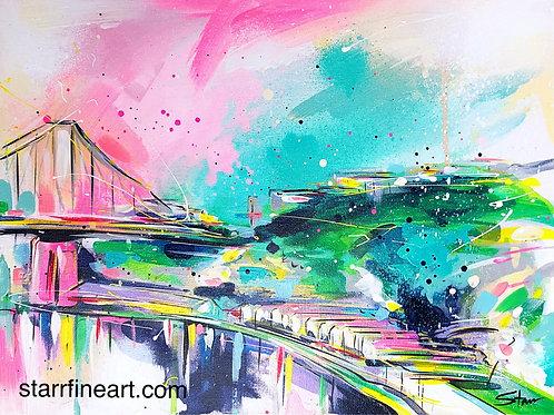 Story Bridge Landscape view (Study) (SOLD)