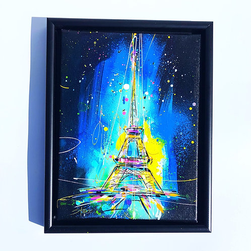 Eiffel Tower on Blue (SOLD)