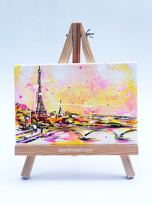 Eiffel Tower view of the Seine (Sold)