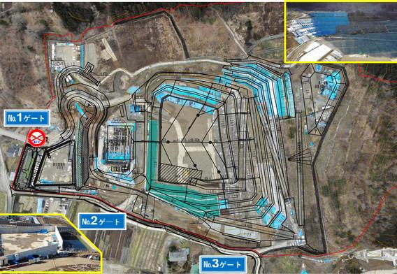 令和2年2月 埋立地の遮水設備工事を再開しています