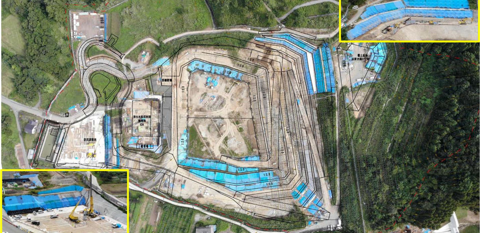 令和元年9月 プレキャスト擁壁の設置を開始しました。