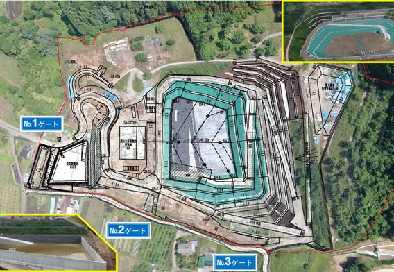 令和2年7月 外周フェンス・道路工事を中心に、構造物、水路工事も継続しています