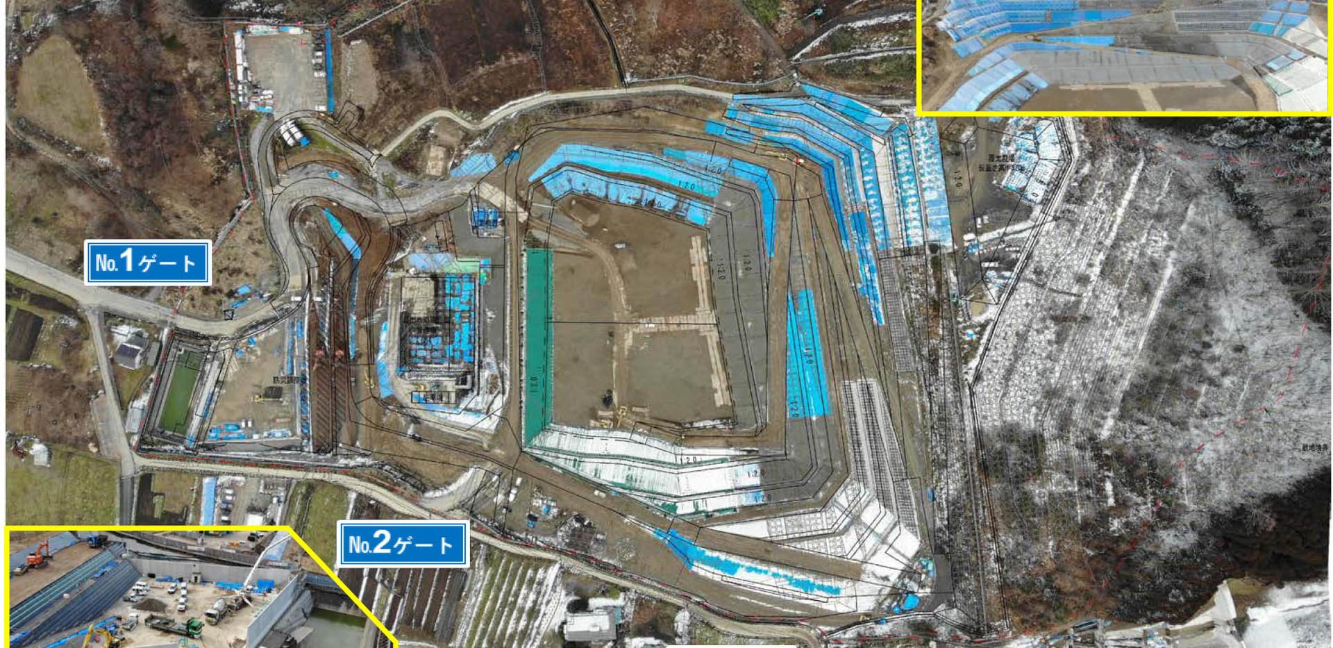 令和2年1月 排水工事など構造物工事が中心となっています。