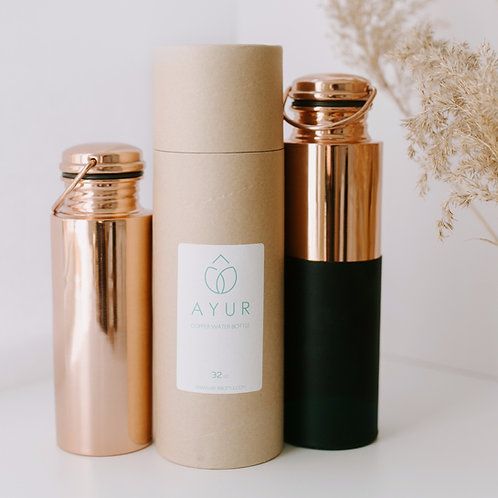 AYUR Copper Water Bottle - 20oz