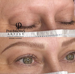 Microblading with Manual Shading
