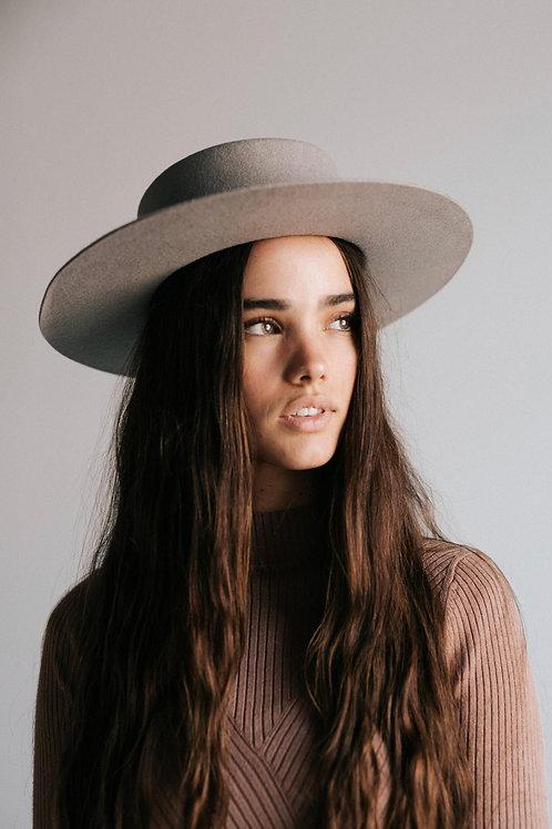 Gigi Pip Dahlia Boater - Grey
