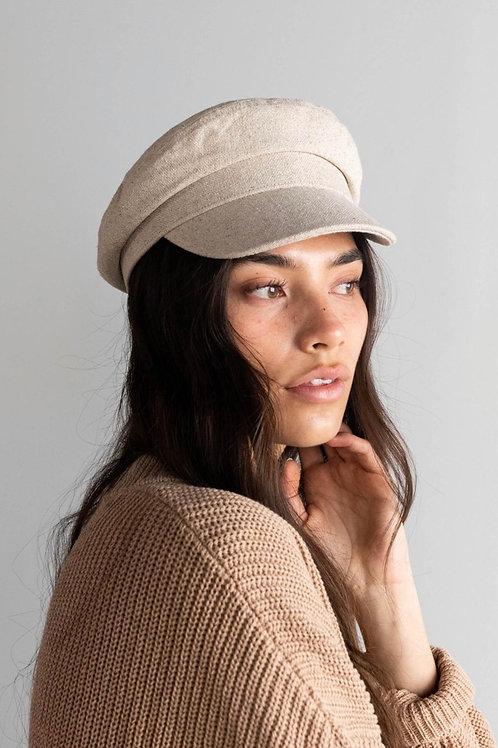 Gigi Pip Newsboy Cap - Linen