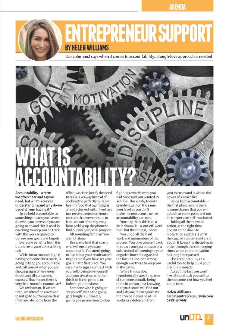Understanding the value of Accountabilit