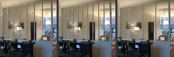 largeur des vitres pour les verrières intérieures bois