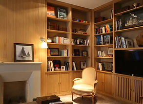 bibliotheque sur mesure intégree à l'architecture