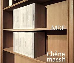 Les étagères en MDF ont une tendance au fléchissement contrairement aux bois massifs
