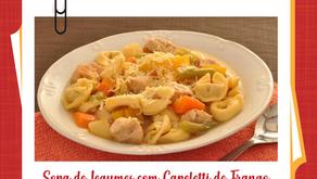 Sopa de legumes com Capeletti Appetito