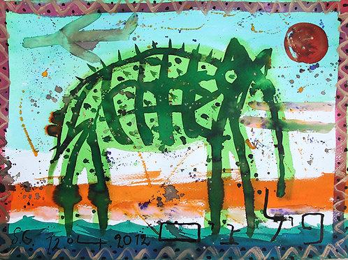 Слон днем