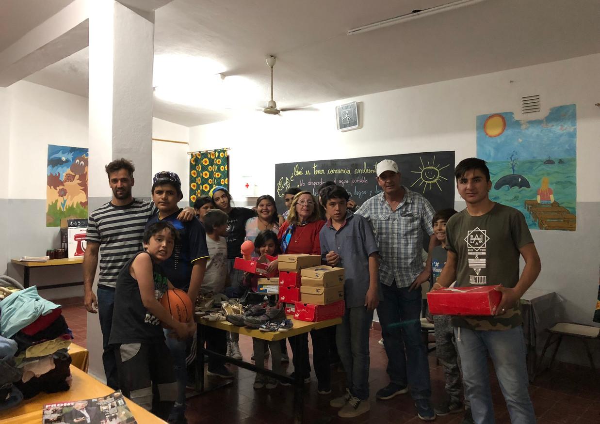 Donativo para Escuela Albergue Paso de los Andes, Maliman