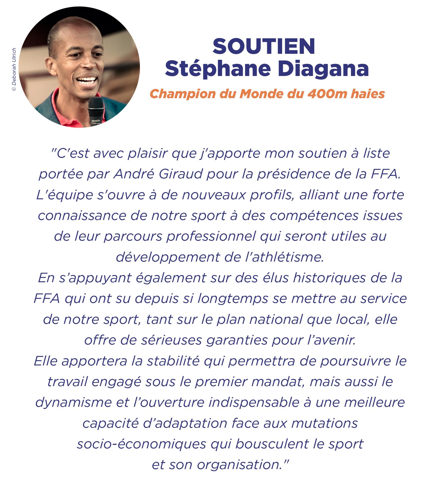 Soutien Stéphane Diagana
