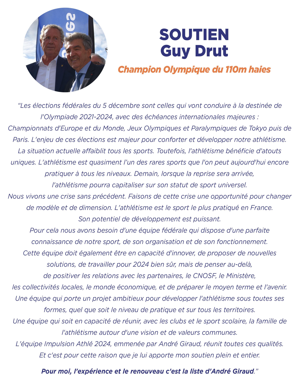 Soutien Guy Drut